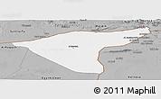 Gray Panoramic Map of Hasaka (Al Haksa)