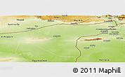 Physical Panoramic Map of Hasaka (Al Haksa)