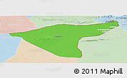Political Panoramic Map of Hasaka (Al Haksa), lighten