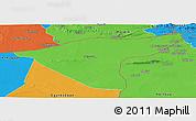 Political Panoramic Map of Hasaka (Al Haksa)