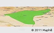 Political Panoramic Map of Hasaka (Al Haksa), satellite outside