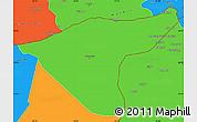 Political Simple Map of Hasaka (Al Haksa)