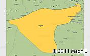 Savanna Style Simple Map of Hasaka (Al Haksa)