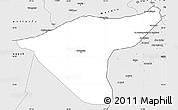 Silver Style Simple Map of Hasaka (Al Haksa)