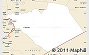 Classic Style Simple Map of Homs (Hims)