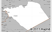 Gray Simple Map of Homs (Hims)