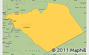 Savanna Style Simple Map of Homs (Hims)