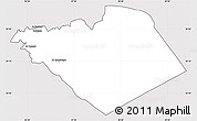 Silver Style Simple Map of Homs (Hims), cropped outside