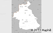 Gray Simple Map of Idlib