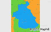 Political Simple Map of Idlib