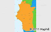 Political Simple Map of Lattakia (Al Ladhiqiyah