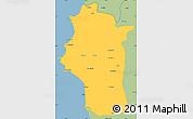 Savanna Style Simple Map of Lattakia (Al Ladhiqiyah