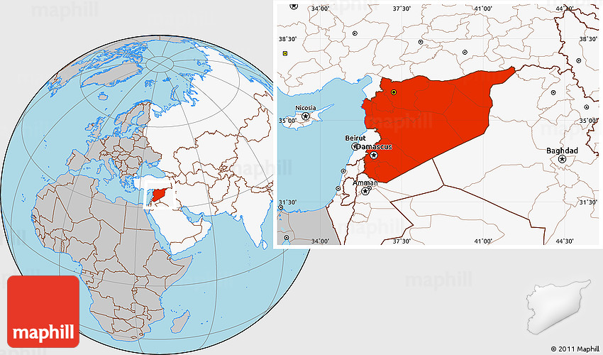 Gray location map of syria highlighted continent gumiabroncs Gallery