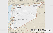 Classic Style Map of Syria