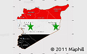 Flag Map of Syria