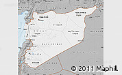 Gray Map of Syria