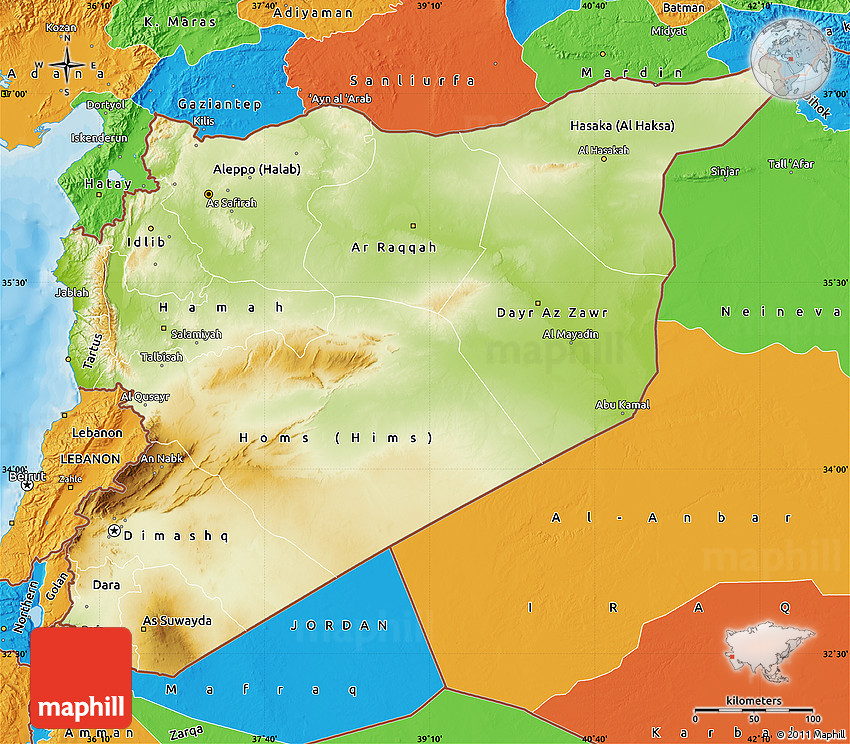 Physical map of syria political outside 2d gumiabroncs Images