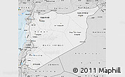 Silver Style Map of Syria