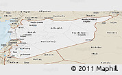 Classic Style Panoramic Map of Syria