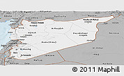 Gray Panoramic Map of Syria