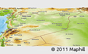 Physical Panoramic Map of Syria