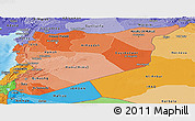 Political Shades Panoramic Map of Syria