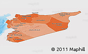 Political Shades Panoramic Map of Syria, single color outside