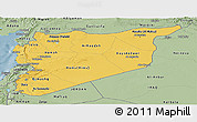 Savanna Style Panoramic Map of Syria