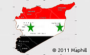 Flag Simple Map of Syria