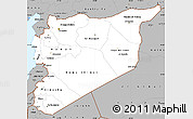 Gray Simple Map of Syria