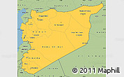 Savanna Style Simple Map of Syria