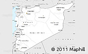 Silver Style Simple Map of Syria