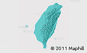 Political Shades 3D Map of Taiwan, cropped outside