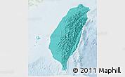 Political Shades 3D Map of Taiwan, lighten
