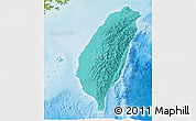 Political Shades 3D Map of Taiwan, physical outside