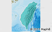 Political Shades 3D Map of Taiwan, satellite outside, bathymetry sea