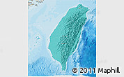 Political Shades 3D Map of Taiwan, shaded relief outside, bathymetry sea