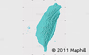 Political Shades Map of Taiwan, cropped outside