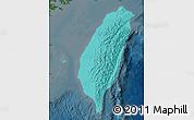 Political Shades Map of Taiwan, darken