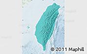 Political Shades Map of Taiwan, lighten