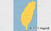 Savanna Style Simple Map of Taiwan
