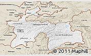 Classic Style 3D Map of Tajikistan