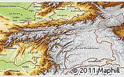 Physical 3D Map of Tajikistan