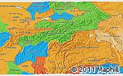 Political 3D Map of Tajikistan