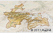 Satellite 3D Map of Tajikistan, lighten