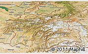 Satellite 3D Map of Tajikistan