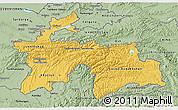 Savanna Style 3D Map of Tajikistan