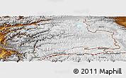 Physical Panoramic Map of Gorno-Badakhshan