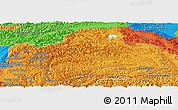 Political Panoramic Map of Gorno-Badakhshan