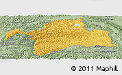 Savanna Style Panoramic Map of Gorno-Badakhshan